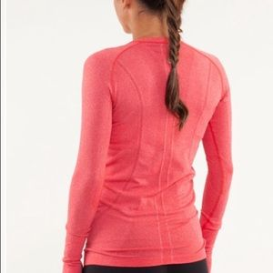 LULULEMON Run Swiftly Tech Long Sleeve Red Size 6